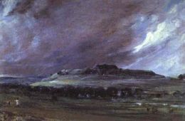 Old Sarum painted by Constable