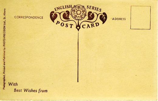 The divided back of the postcards
