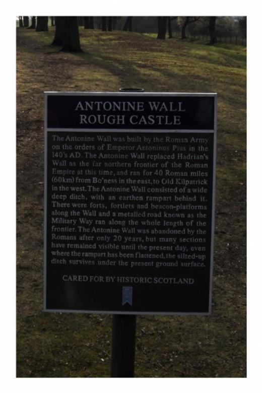 Antonine Wall Descriptive Plaque
