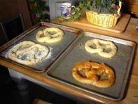 baking pretzels