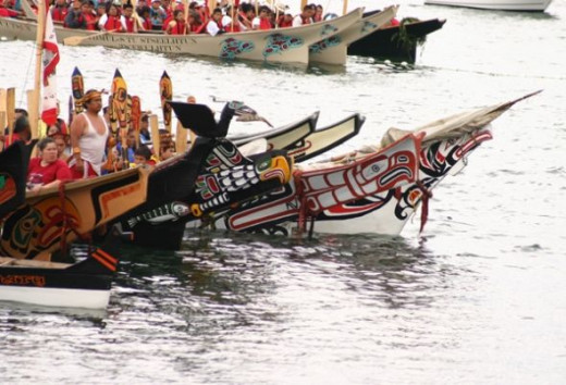 First Nations War Canoes Gather in Departure Bay (Summer, 2008)