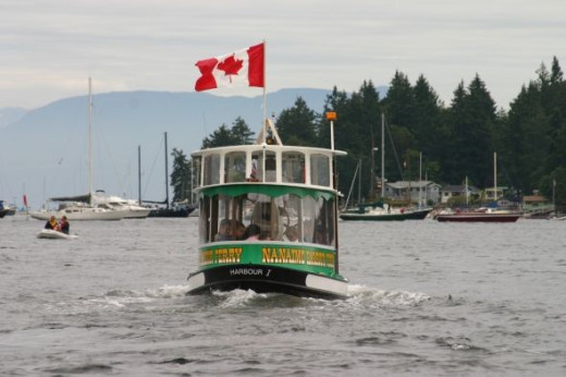 """Pickle Boat,"" named from its distinctive colour, ferries passengers to outlying islands, and offers harbour tours."
