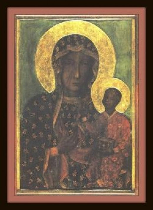 The Icon of the Black Madonna of Czestochowa