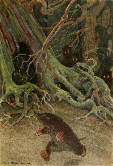 Mole in The Wild Wood. 1913. page 65By Bransom, Paul, illustrator, [Public Domain], via Wikimedia Commons