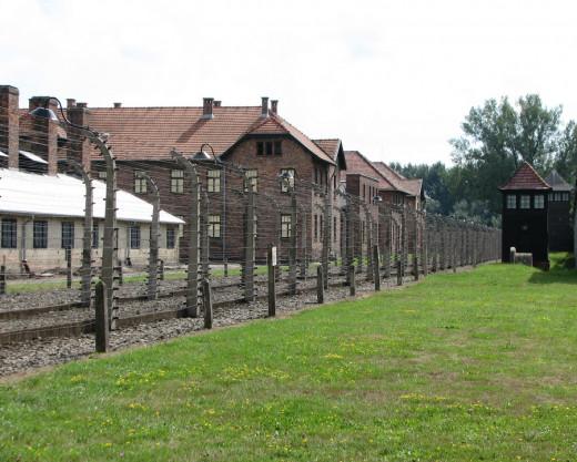 Auschwitz I concentration camp, near Krakow.