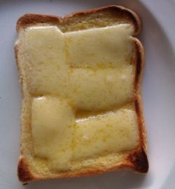 The cheese toastie slice.