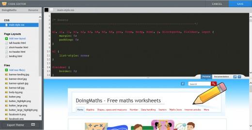 HTML/CSS editor