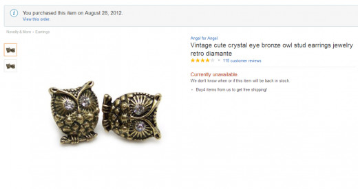 My stud owl earrings
