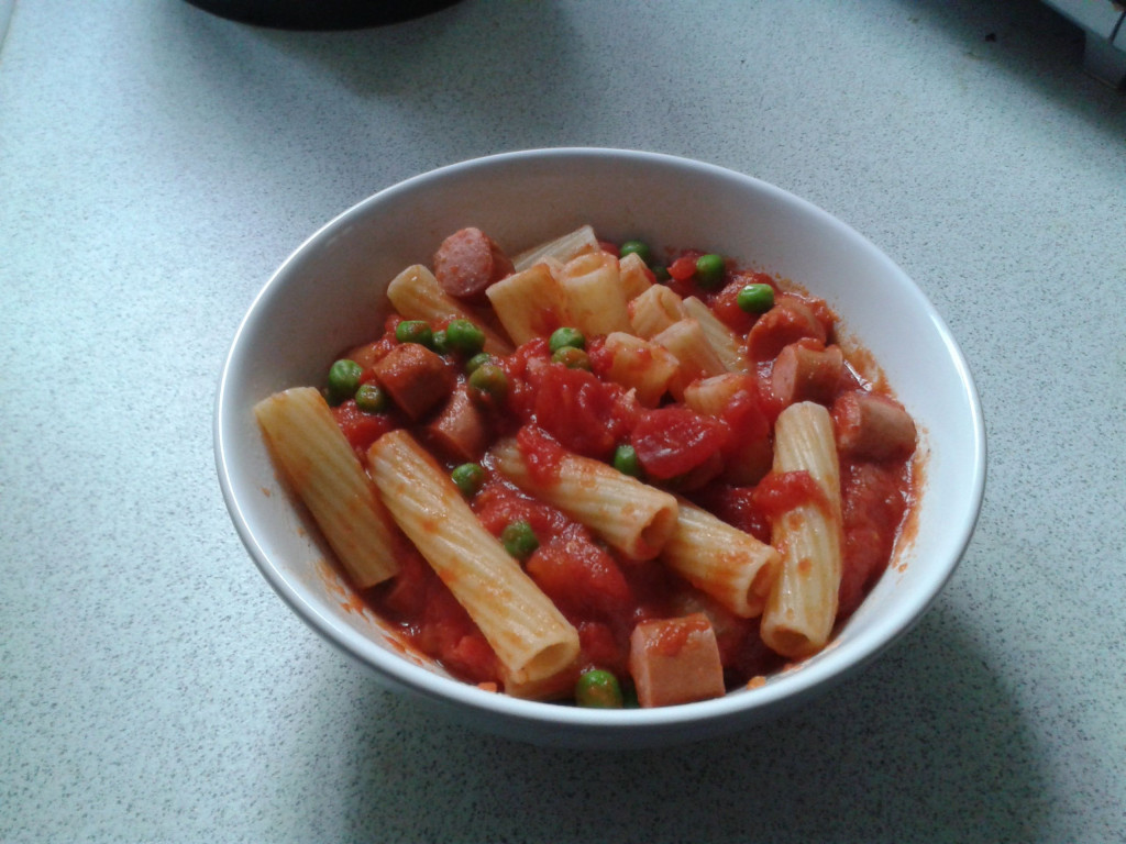 Tomato and Hotdog Pasta Recipe