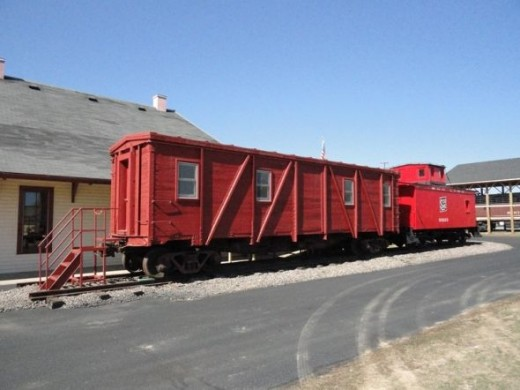 Train Car with Caboose