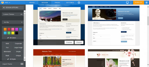 Weebly design page