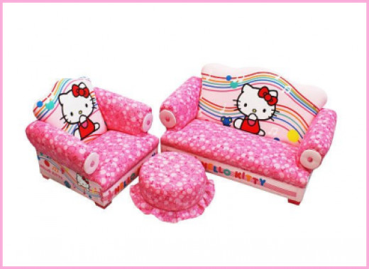 Hello Kitty 3-Piece Toddler Sofa Set