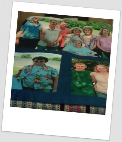 My Mom's Photo Blanket