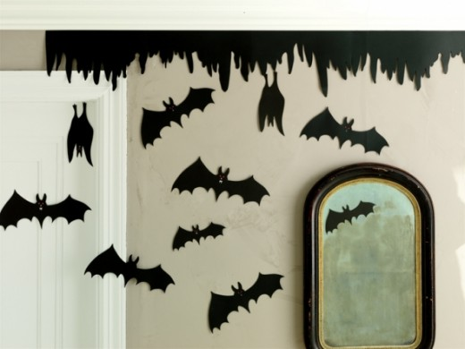 Silhouette of Bats. Featured on Paper Crave.