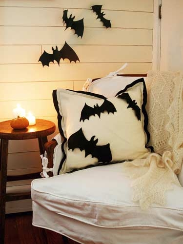 Bats on your pillows. Featured by HGTV.