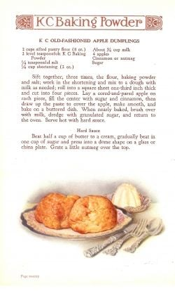 Vintage Apple Dumpling Ad