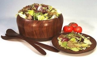 Beautiful Wooden Salad Bowl by Vermont Bowl