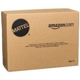 The new packaging is less than exciting with the traditional Amazon look.