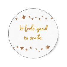 Feels Good to Smile Stickers