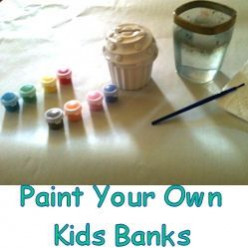 Paint Your Own Kids Banks