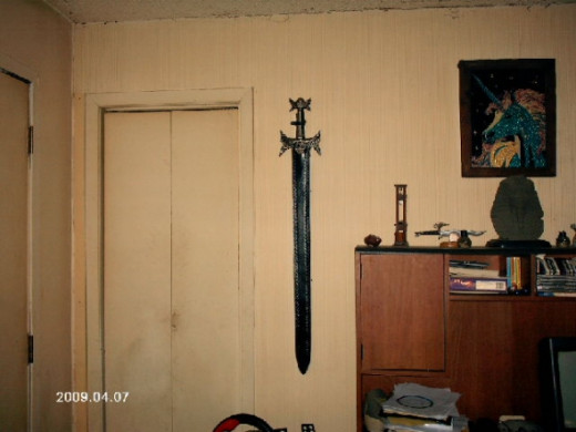 A broadsword replica that my husband owns.