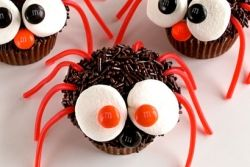Big Eyed Spider Cupcakes