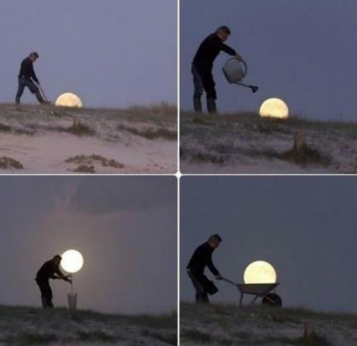 Creative full moon photography