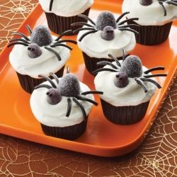 Gum Drop  Spider Cupcakes