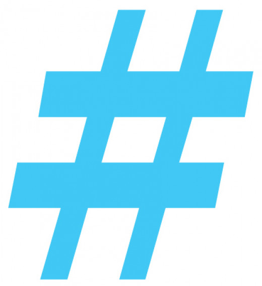 The # symbol (also known as the pound, hash or number sign) identifies topics and keywords on social media networks.