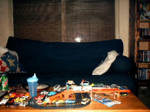 The futon.Photo copyright Shari O'Leary