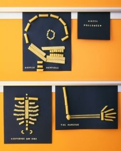 Halloween Pasta Skeleton Craft