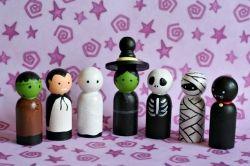Halloween Peg People Craft