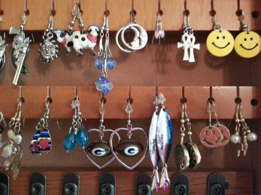 Organize your earrings on these holders.