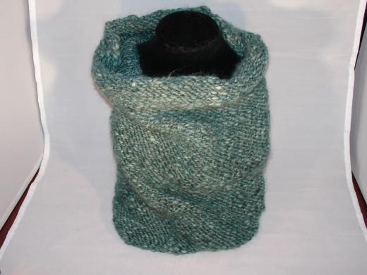 Cowl made from handspun wool