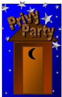 Privy Outhouse Party Invitation