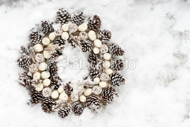 All white pine cones make a lovely wreath
