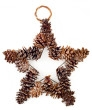 Find a wire star shape to create your own Star Pine Cone Wreath