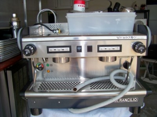 Give your big ticket items a place of their own like we did we this commercial cappuccino machine.