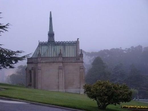 Foggy Mausoleum, Colma, California