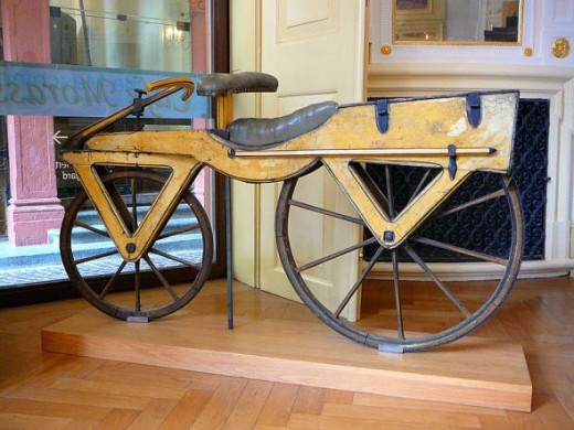 "Early Bicycle known as the ""Dandy Horse"""
