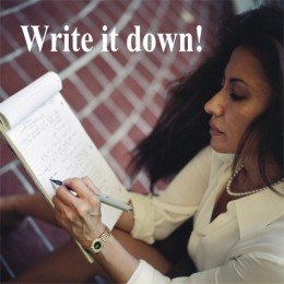 It is important to write it down!