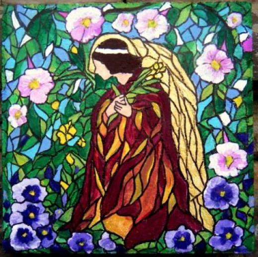 Angel Stained Glass Theme Rock