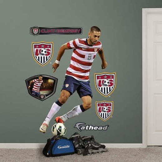 USA Soccer Clint Dempsey Wall Decal Sticker