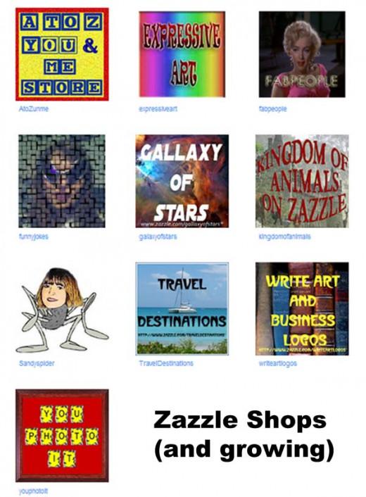 Zazzle Shops