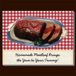 Homemade Meatloaf Postcard Sandyspider Gifts on Zazzle