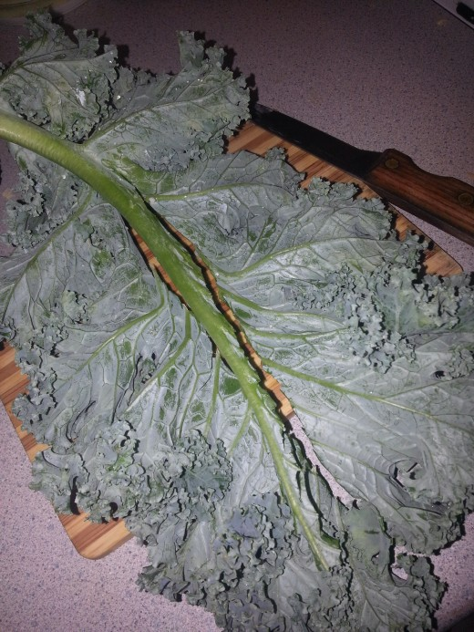 Leafy Kale (don't forget to remove the stem).