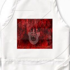 Scary Halloween Aprons