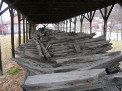 Ticonderoga hull in Whitehall, NY