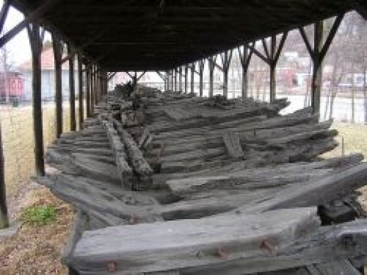 Ticonderoga hull in Whitehall, NY