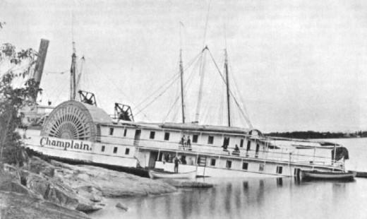 S.S. Champlain - aground